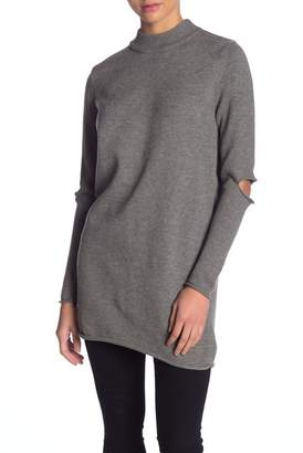 Love Token Elbow Slit Long Sleeve Sweater