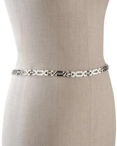White House Black Market Geo Cutout Chain Belt