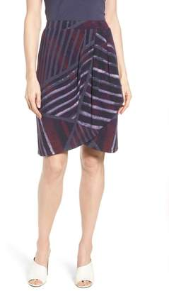 Nic+Zoe Cityscape Faux Wrap Skirt