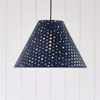 Pottery Barn Teen Perforated Cone Pendant, Navy