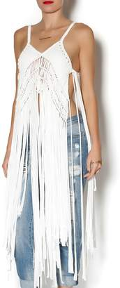 jujube Fringed Top $59.99 thestylecure.com