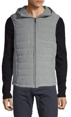 Perry Ellis Hooded Puffer Vest