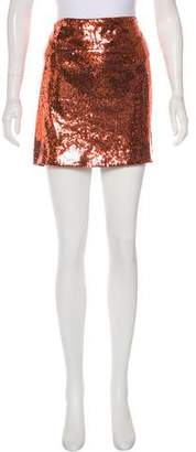 Diane von Furstenberg Kawa Sequin Mini Skirt