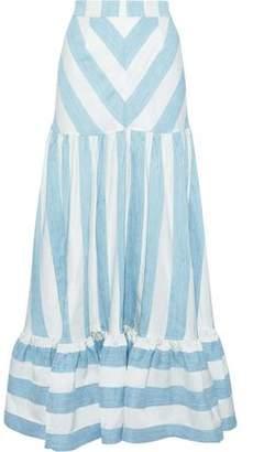 Paper London Marianne Striped Woven Maxi Skirt
