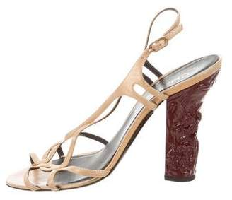 Chanel Metallic Leather Sandals