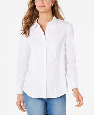 Charter Club Petite Button-Down Woven Shirt