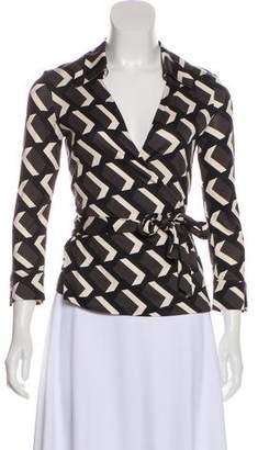 Diane von Furstenberg Wrap Long Sleeve Top