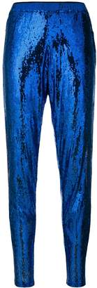 Laneus sequin embellished cropped trousers