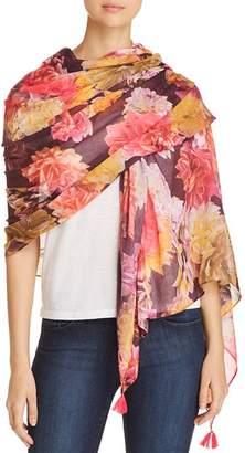 Echo Dahlia Floral Print Wrap