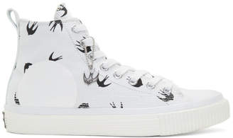 McQ White Swallow High-Top Sneakers