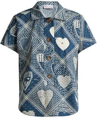 RED Valentino Short-sleeved heart-print shirt
