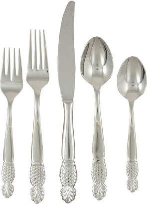 Gingko International Pineapple 20-pc. 18/10 Stainless Steel Flatware Set