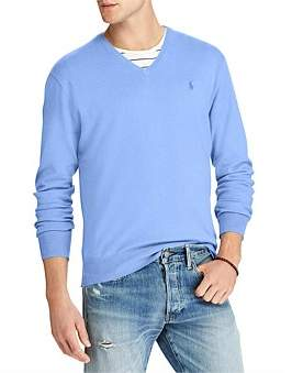 Polo Ralph Lauren Mens Cotton V-Neck Sweater