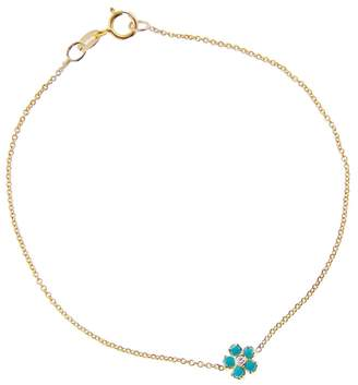 Jennifer Meyer Turquoise and Diamond Flower Bracelet