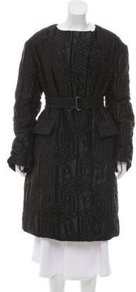 Dries Van Noten Wool Patterned Coat