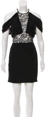 Cushnie et Ochs Off-The-Shoulder Silk Dress