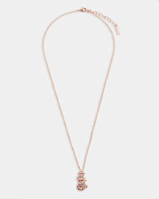 Ted Baker SALIMA Swarovski crystal cat pendant necklace