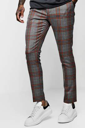 boohoo Bold Detail Check Cropped Trouser