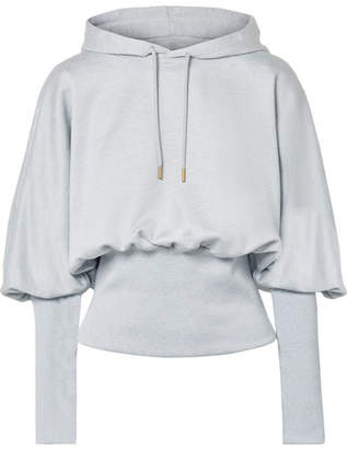 Opening Ceremony Cotton-terry Hoodie - Light gray