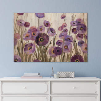 iCanvas Pink And Purple Flowers Canvas Art