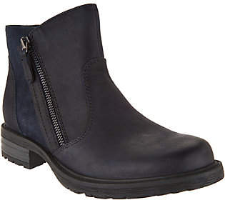 Earth Vintage Leather Side Zip Ankle Boots -Jordan