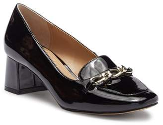 Tahari Mason Patent Leather Block Heel Loafer