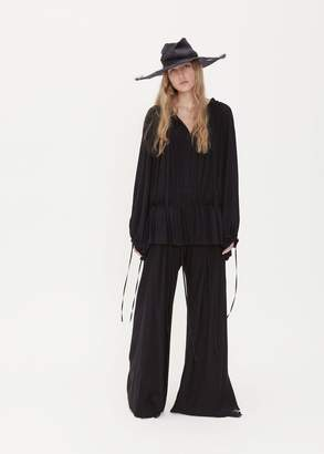 Ann Demeulemeester Long Sleeve Gathered Blouse