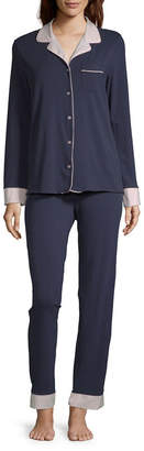 Liz Claiborne Women's Notch Collar Pajama Set