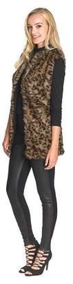 Point Zero Faux Fur Animal Print Gilet