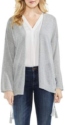 Vince Camuto Pointelle Side Lace-Up Cardigan