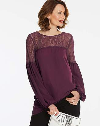 Anthology Berry Lace Detail Blouse