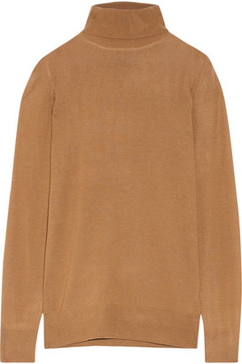 J.Crew - Cashmere Turtleneck Sweater - Camel $270 thestylecure.com