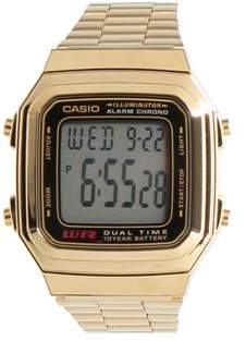 Casio Illuminator Databank Gold Watch