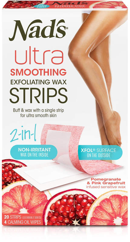 Nads Natural Exfoliating Hair Removal Strips