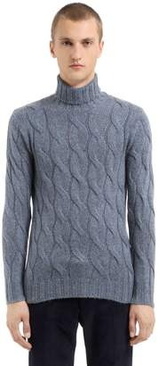 Lardini Wool Mohair Blend Cable-Knit Sweater