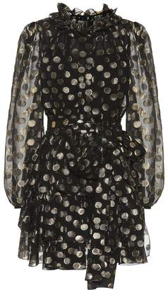 Dolce & Gabbana Dotted fil coupe minidress