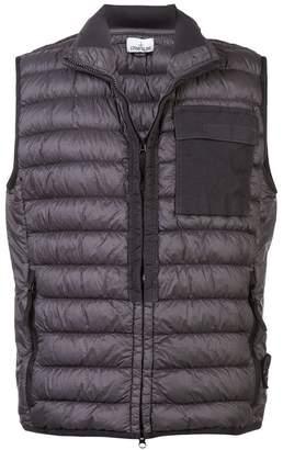 Stone Island zipped padded vest