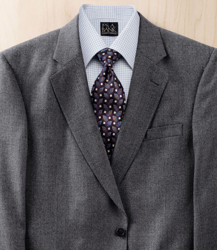 Jos. A. Bank Executive 3-Button Wool Herringbone Sportcoat