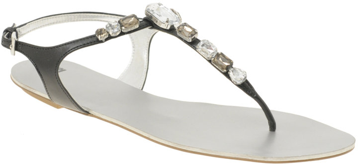 ASOS FIRE Jewelled Toe Thong Sandal