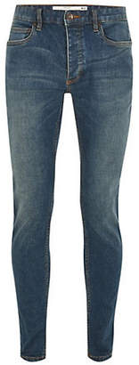 Topman Mid-Wash Stretchy Skinny Jeans