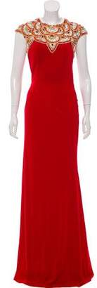 Jovani Embellished Cap Sleeve Gown w/ Tags