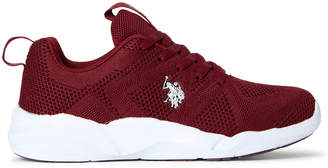 U.S. Polo Assn. Wine & White Lavina Knit Low-Top Sneakers
