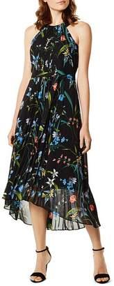 Karen Millen Pleated Floral Print Midi Dress