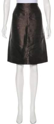Ralph Lauren Black Label Metallic Pencil Skirt