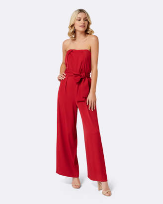 Forever New Asher Strapless Tie Waist Jumpsuit