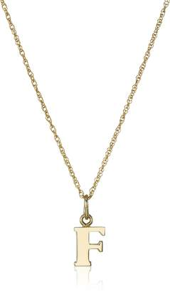 """Amazon Collection 14K Gold-Filled Letter""""E"""" Charm Pendant Necklace, 18"""""""