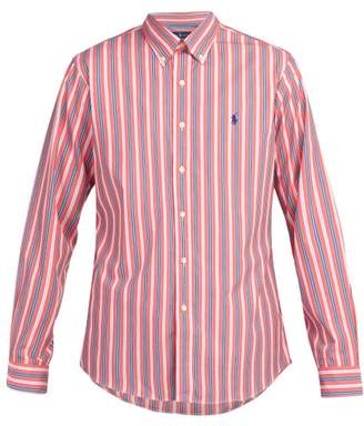 Polo Ralph Lauren Slim Fit Striped Cotton Poplin Shirt - Mens - Red Multi