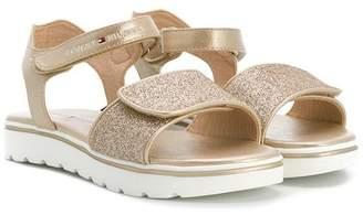 Tommy Hilfiger Junior open toe glitter sandals