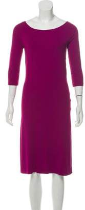 Narciso Rodriguez Scoop Neck Midi Dress Purple Scoop Neck Midi Dress