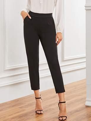 Shein Solid Slant Pocket Crop Pants